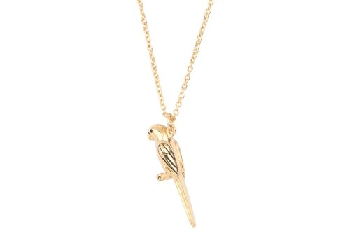 All the Luck in the World Souvenir Goldplated Ketting Papegaai