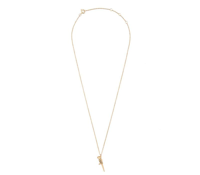 Necklace Parrot plated