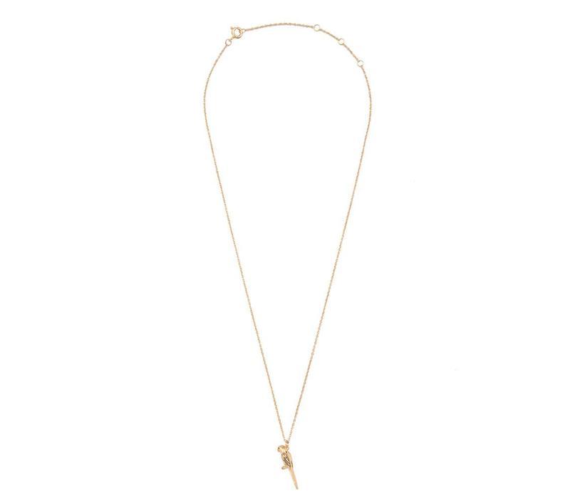 Souvenir Goldplated Necklace Parrot