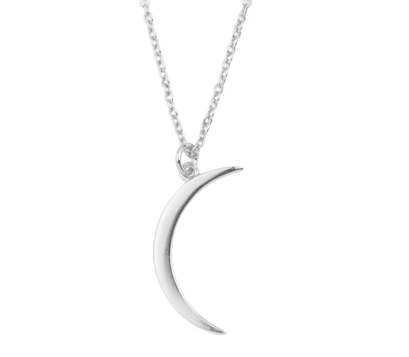 Necklace Long Moon silver