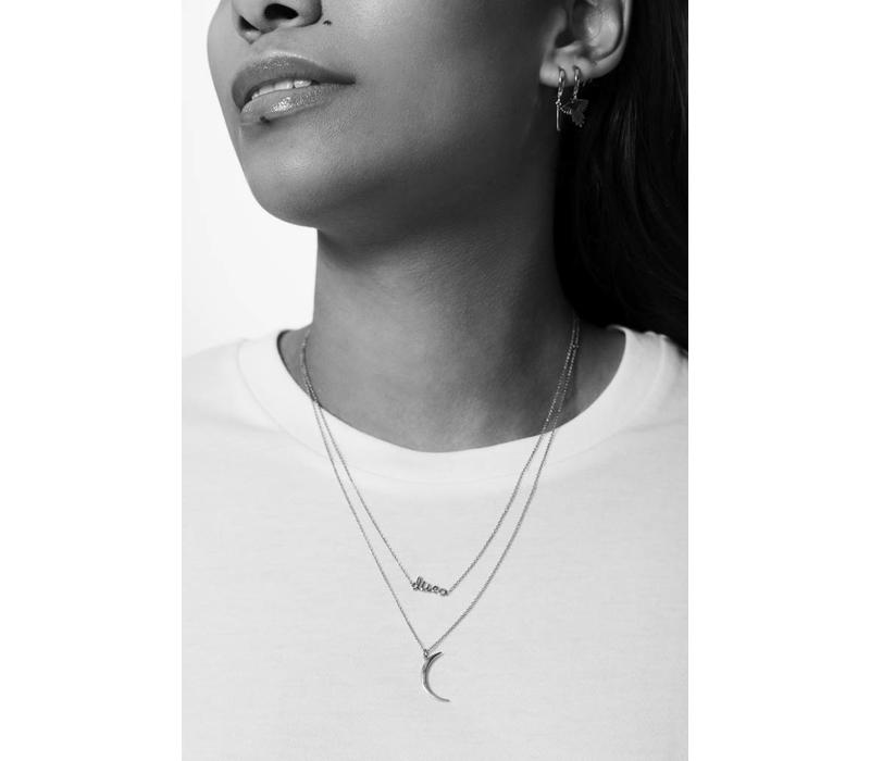 Necklace Long Moon plated