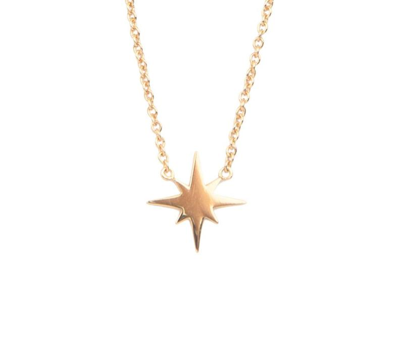 Necklace Starburst plated