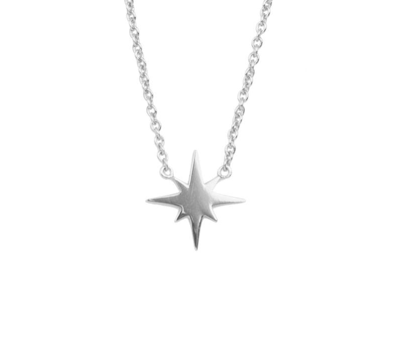Souvenir Silverplated Necklace Starburst