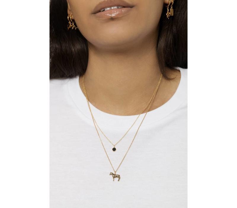 Souvenir Goldplated Necklace Zebra