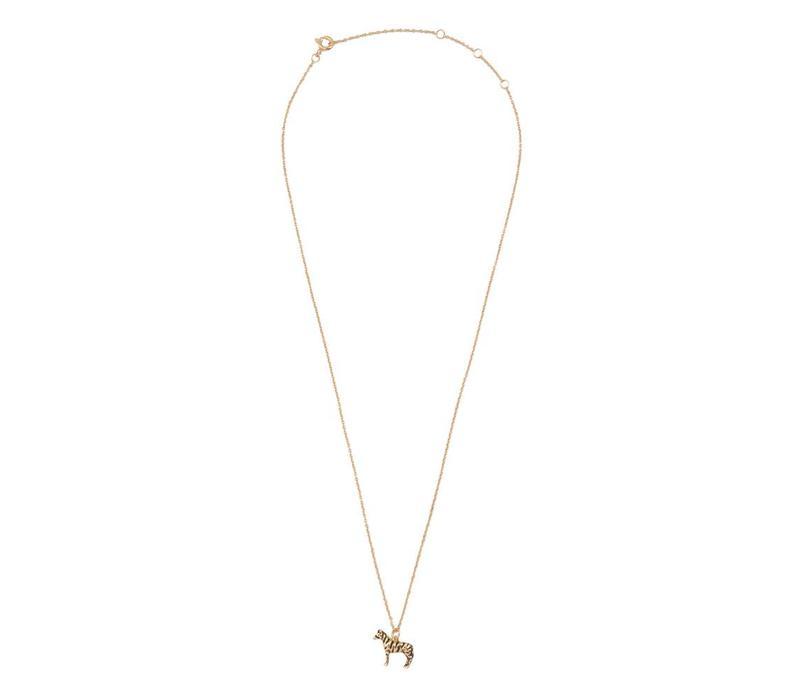 Necklace Zebra gold