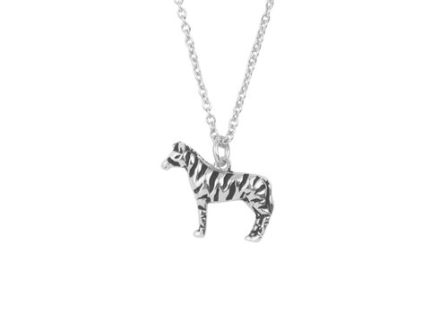 All the Luck in the World Souvenir Silverplated Ketting Zebra