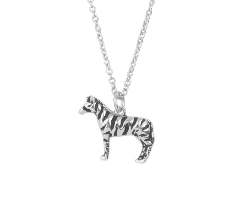 Souvenir Silverplated Ketting Zebra