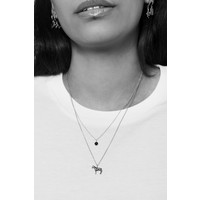 Souvenir Silverplated Necklace Zebra