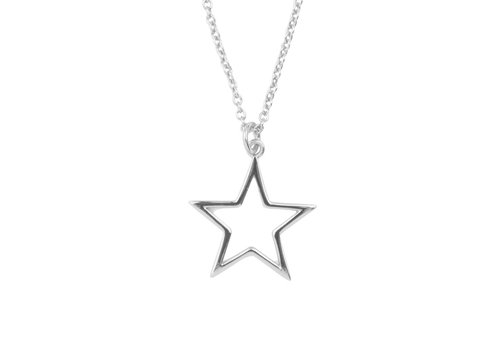 All the Luck in the World Souvenir Silverplated Ketting Ster