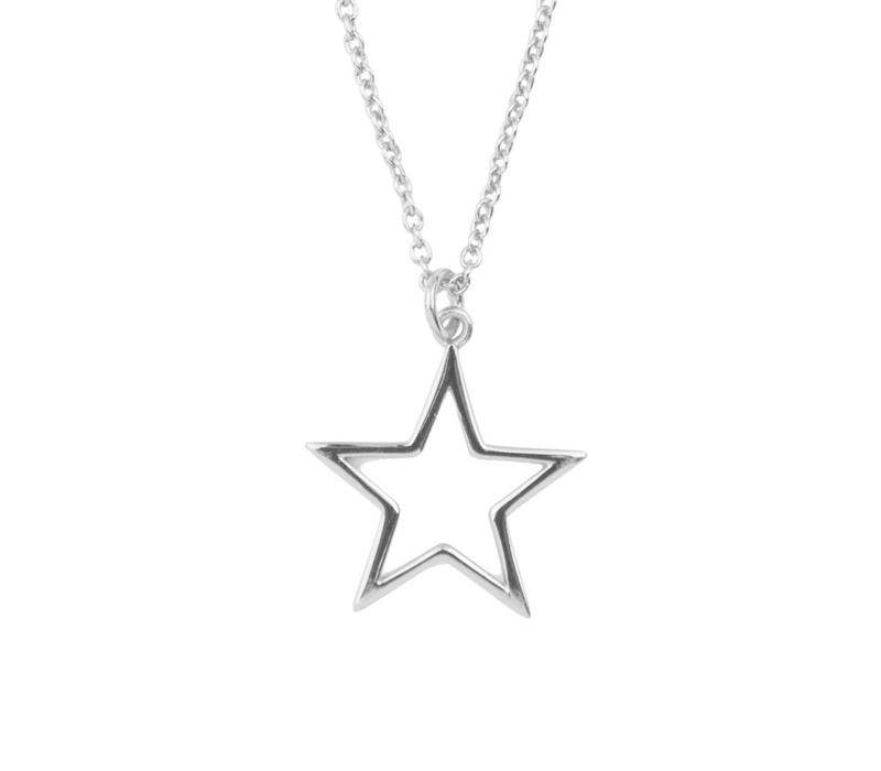 Souvenir Silverplated Ketting Ster