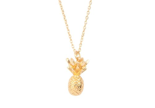 All the Luck in the World Ketting Ananas 18K goud