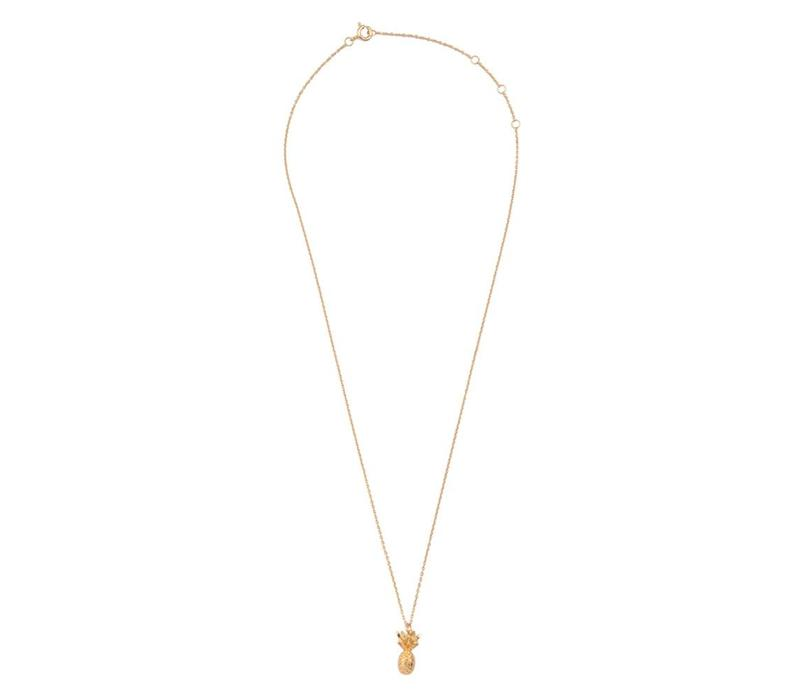 Souvenir Goldplated Necklace Pineapple