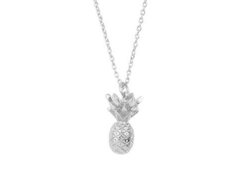 All the Luck in the World Souvenir Silverplated Necklace Pineapple