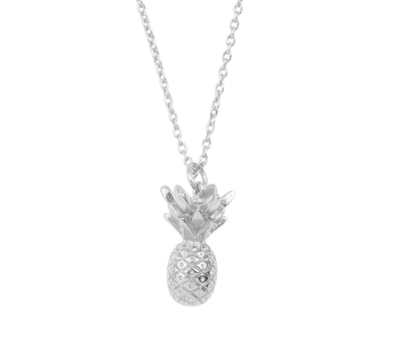 Souvenir Silverplated Necklace Pineapple
