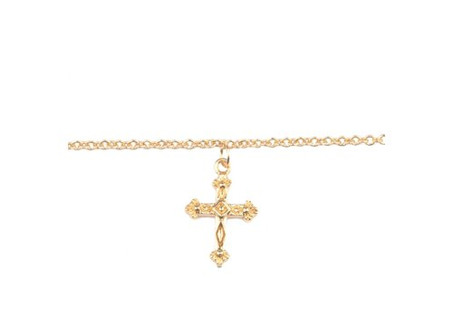 All the Luck in the World Souvenir Goldplated Bracelet Cross