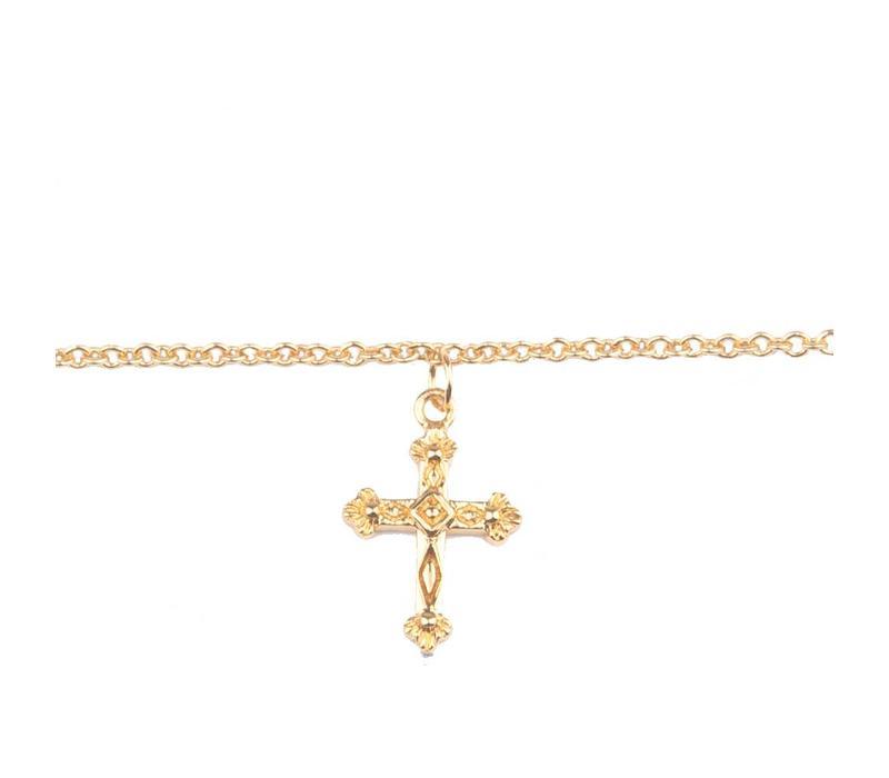 Souvenir Goldplated Bracelet Cross