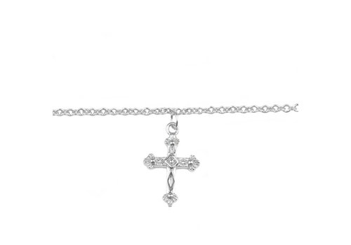All the Luck in the World Souvenir Silverplated Bracelet Cross