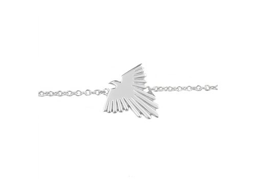 All the luck in the world Bracelet Eagle silver
