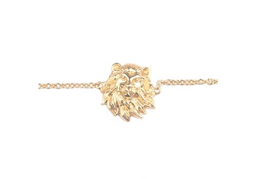 All the Luck in the World Souvenir Goldplated Armband Leeuw