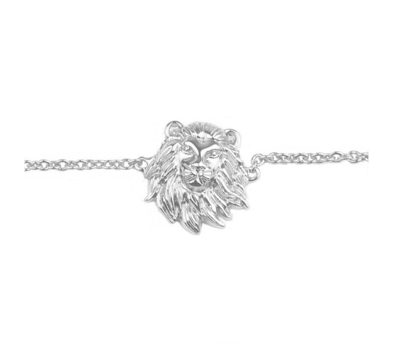 Armband Leeuw zilver