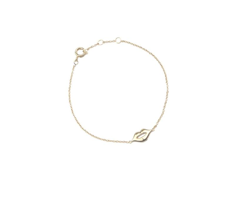 Armband Lippen goud