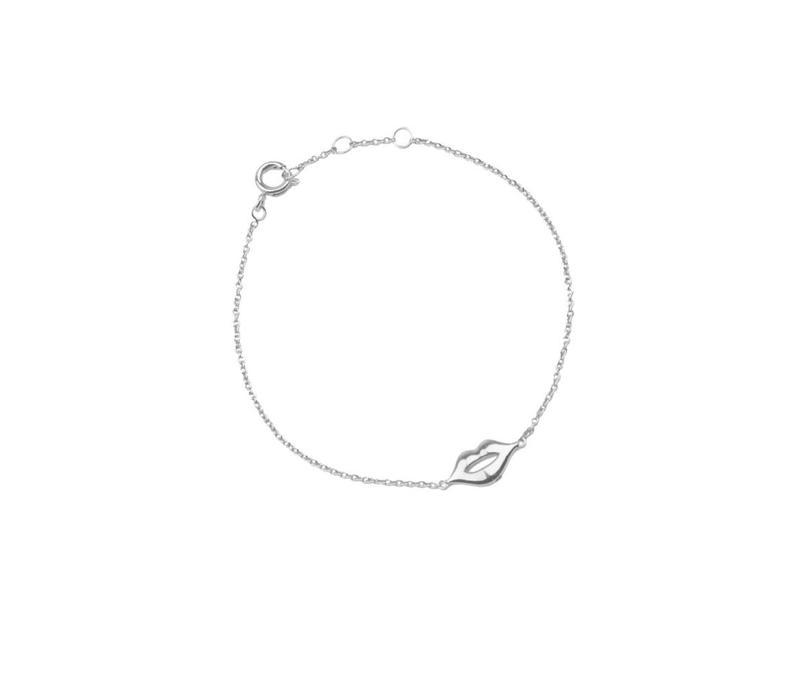 Armband Lippen zilver