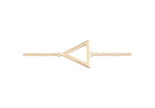 All the Luck in the World Bracelet Open Triangle gold