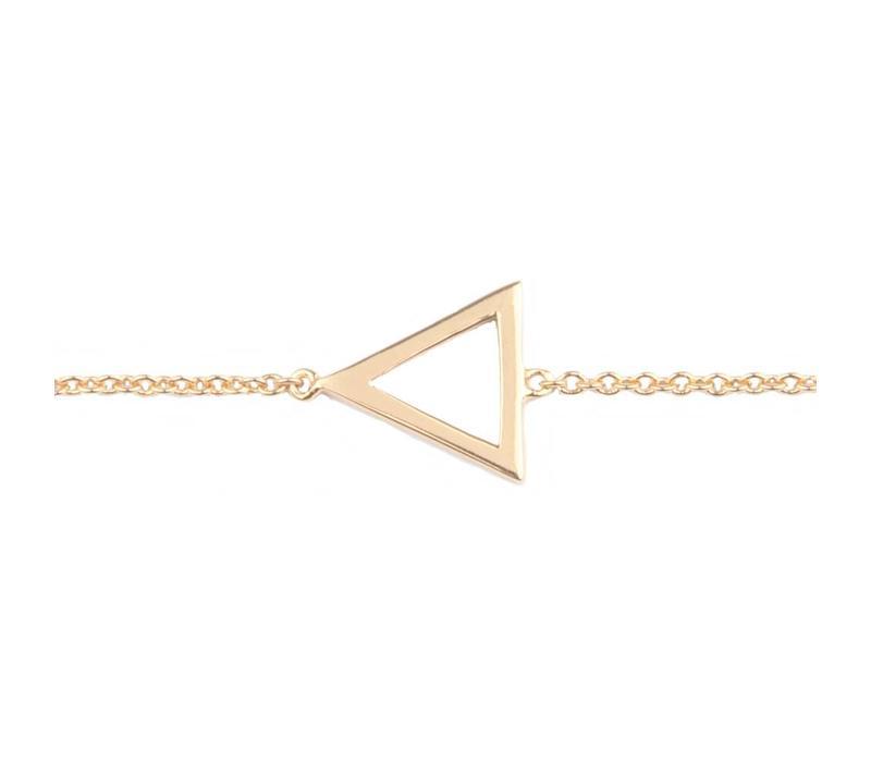 Armband Open Driehoek goud