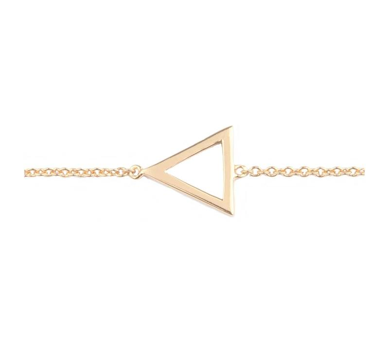 Bracelet Open Triangle gold