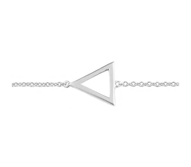 Armband Open Driehoek zilver