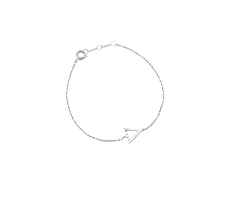 Souvenir Silverplated Armband Open Driehoek