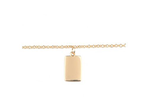 All the luck in the world Bracelet Rectangle gold