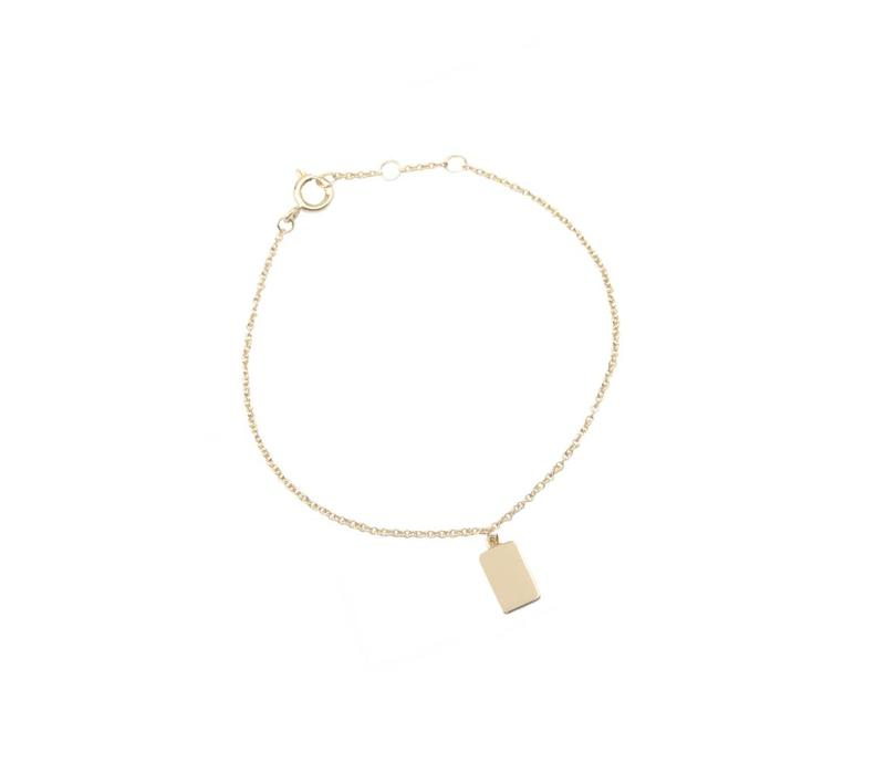 Bracelet Rectangle plated