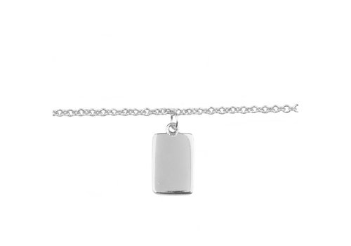 All the Luck in the World Bracelet Rectangle silver