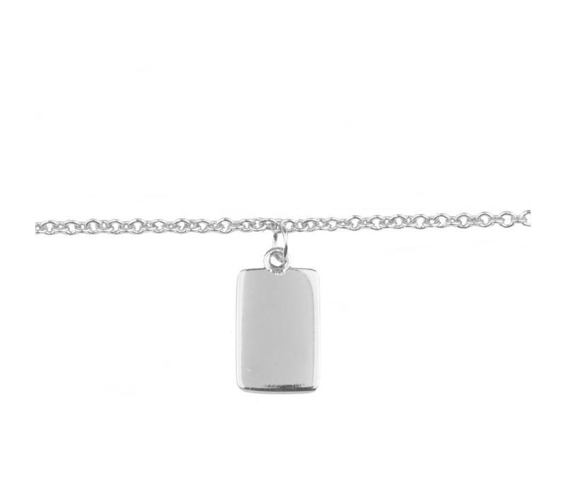 Armband Rechthoek zilver