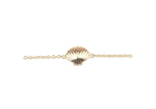 All the Luck in the World Souvenir Goldplated Armband Zeeschelp