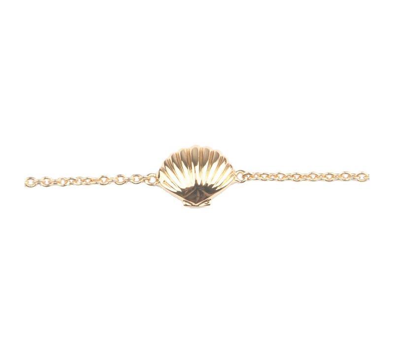 Souvenir Goldplated Armband Zeeschelp