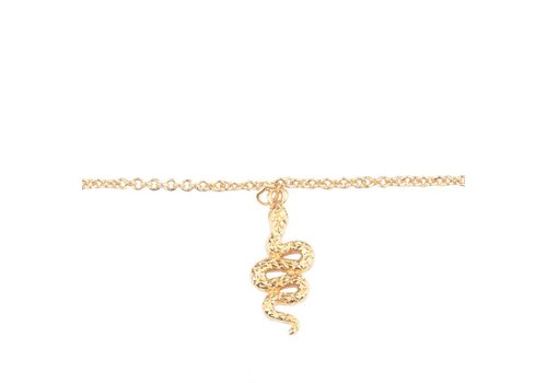 All the luck in the world Armband Slang 18K goud