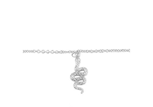 All the Luck in the World Souvenir Silverplated Bracelet Snake