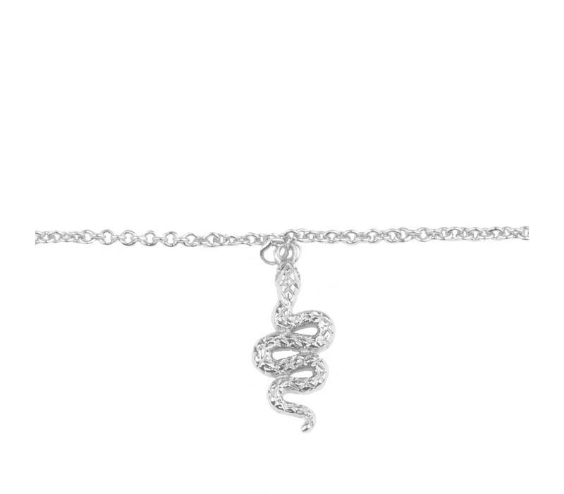Souvenir Silverplated Bracelet Snake