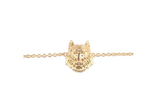 All the luck in the world Bracelet Wolf gold
