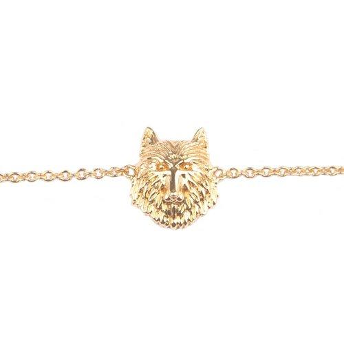 Souvenir Goldplated Armband Wolf