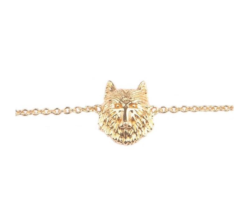 Souvenir Goldplated Armband Wolf