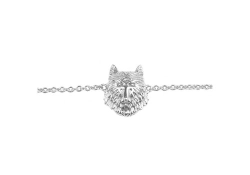 All the Luck in the World Souvenir Silverplated Bracelet Wolf