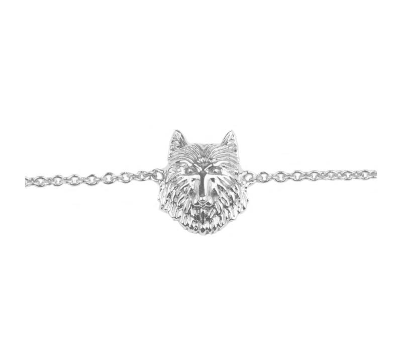 Souvenir Silverplated Armband Wolf