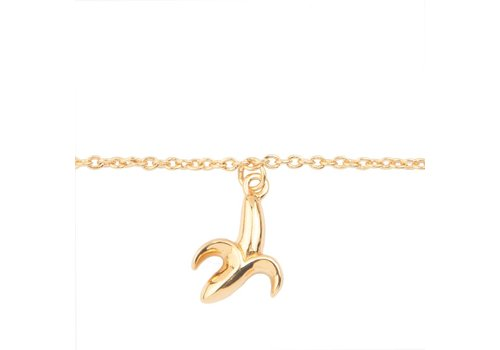 All the Luck in the World Souvenir Goldplated Armband Banaan