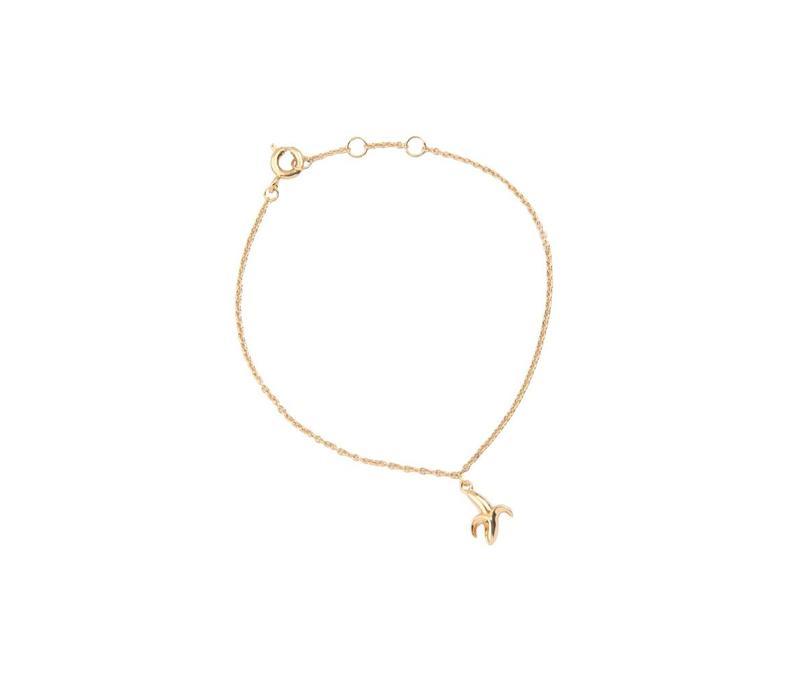 Armband Banaan goud