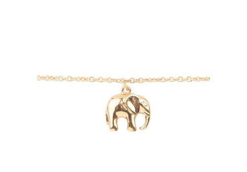 All the Luck in the World Souvenir Goldplated Armband Olifant