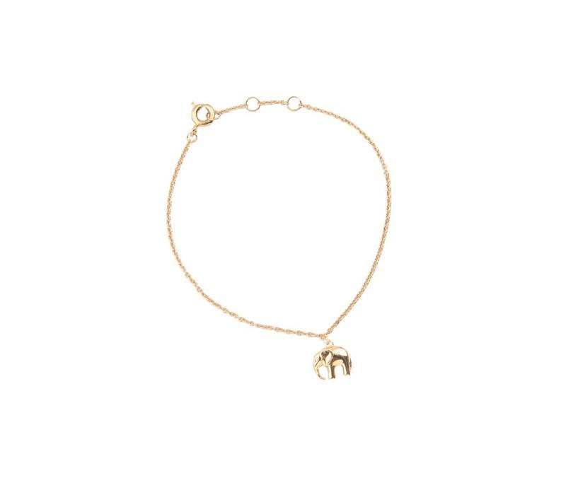 Souvenir Goldplated Bracelet Elephant