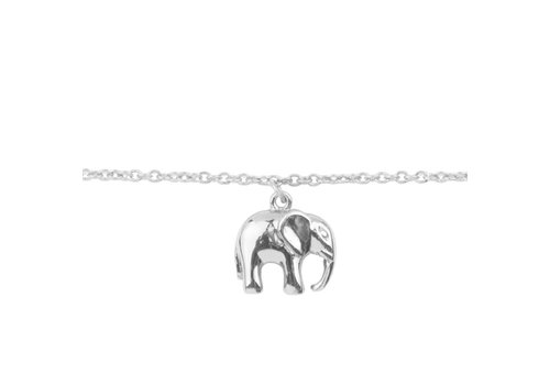 All the luck in the world Armband Olifant zilver